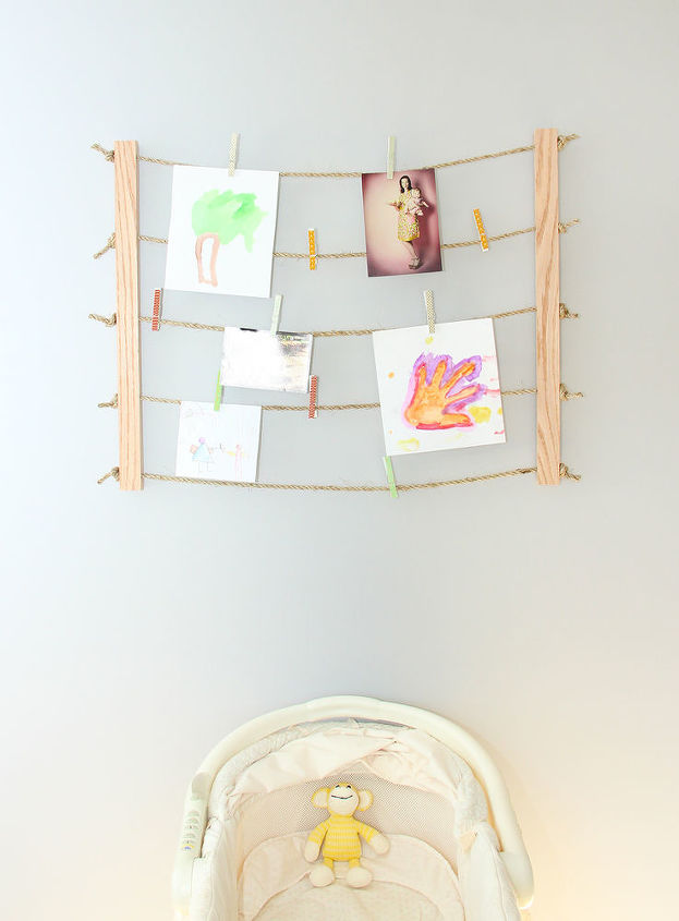 diy clothesline photo display, bedroom ideas, crafts, how to, repurposing upcycling, wall decor