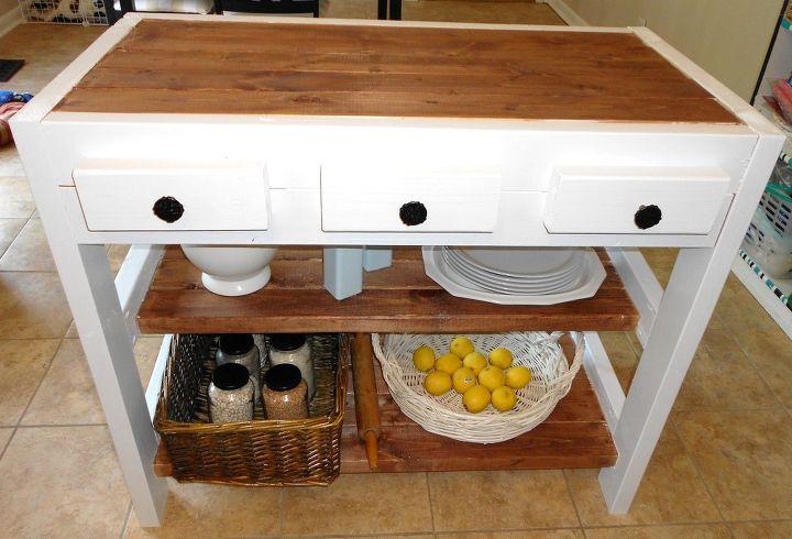 30 kitchen island made with 2x4s, diy, how to, kitchen design, kitchen