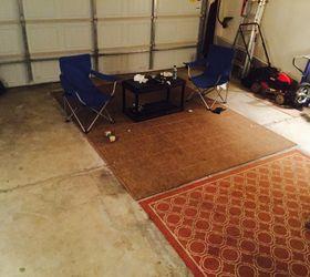Cheap Man Cave Garage Ideas : Man cave floor hometalk