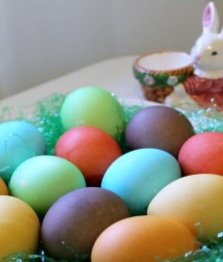 colorful easter eggs made with kool aid, crafts, easter decorations, how to, repurposing upcycling, seasonal holiday decor