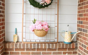 Upcycled Crib Spring Porch Display