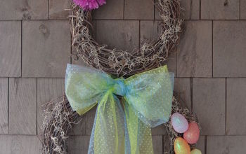 Spring Easter Bunny Wreath for Less Than $10
