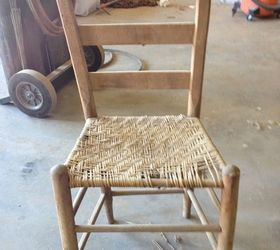 Rope Or Hemp Bottom Chair, Bedroom Ideas, Home Decor, Painted Furniture