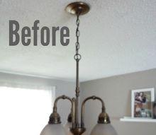 light fixture update for 20, dining room ideas, lighting