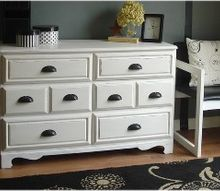 70 s hutch turned dreamy dresser, chalk paint, painted furniture, repurposing upcycling