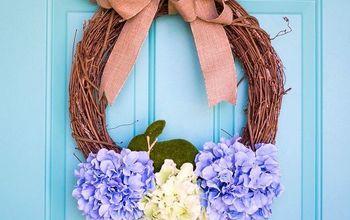 Easter Hydrangea Wreath