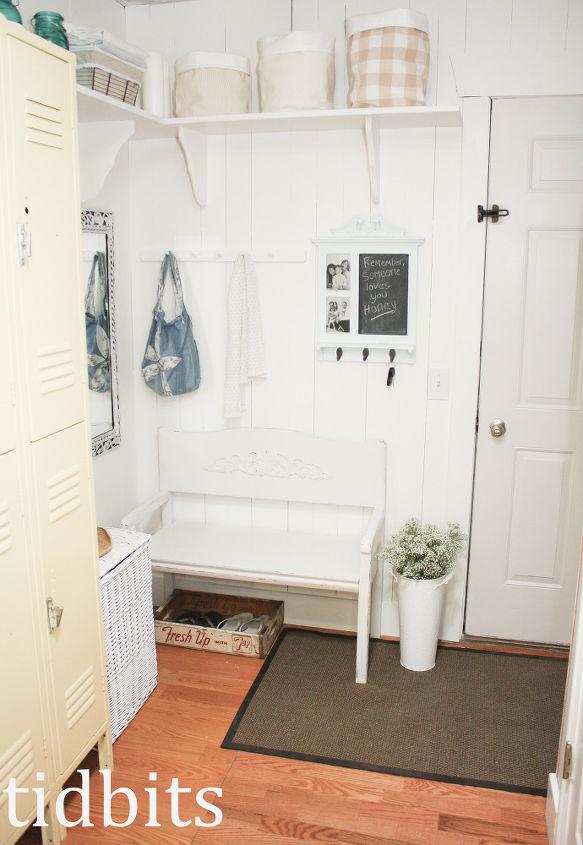 mudroom makeover cottage fresh style, closet, foyer, shelving ideas, storage ideas