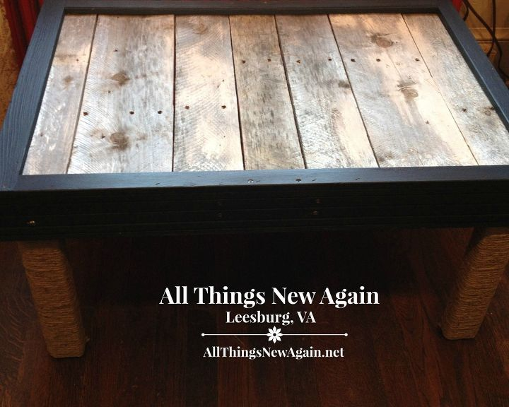 a nautical look for a handmade table, painted furniture, pallet, repurposing upcycling, woodworking projects