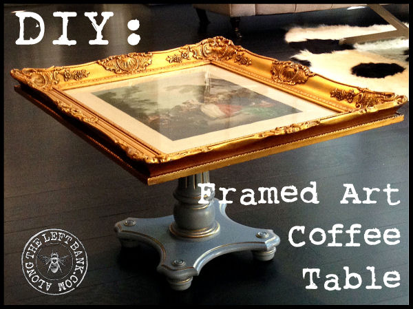 DIY: Framed Art Coffee Table | Hometalk