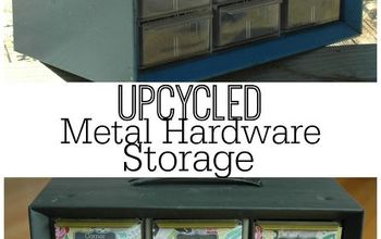 {Trash to Treasure}  Feminine Metal Storage Solution