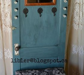 Amazing Turquoise Hall Tree Made Out Of An Old Door, Doors, How To, Painted