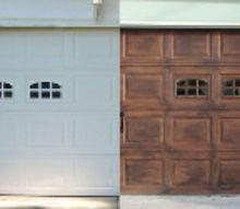diy faux stained wood garage door tutorial, diy, garage doors, garages, how to, painting