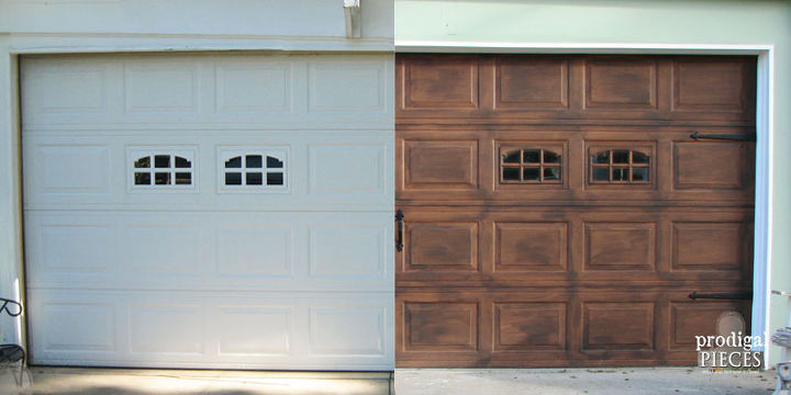 diy garage doorDIY Faux Stained Wood Garage Door Tutorial  Hometalk