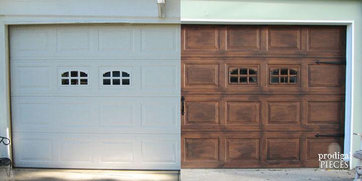 Diy Faux Stained Wood Garage Door Tutorial Hometalk