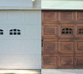 Diy Faux Stained Wood Garage Door Tutorial, Diy, Garage Doors, Garages, How