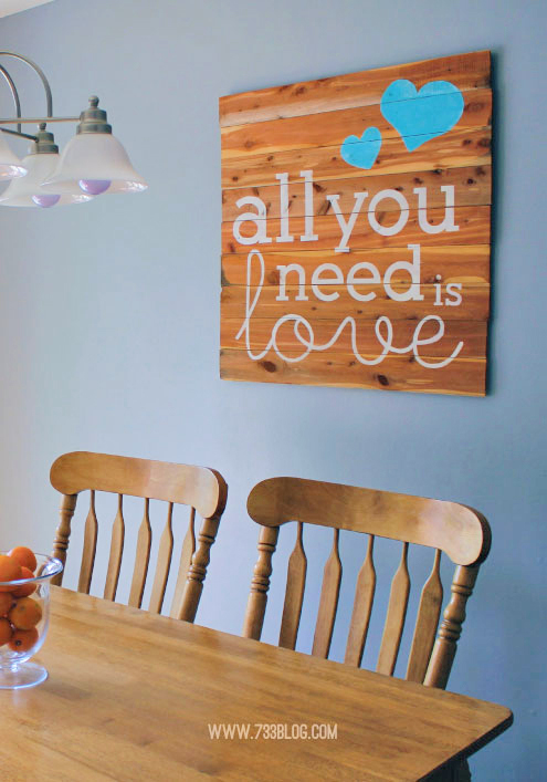 Wood Plank Sign Crafts Repurposing Upcycling Wall Decor