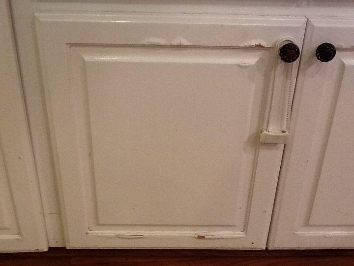 Water Damage On Press Wood Kitchen Cabinets Hometalk