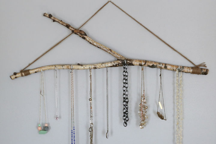 jewelry branch, how to, organizing, repurposing upcycling