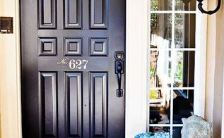 front door makeover in 3 easy steps, curb appeal, doors, painting