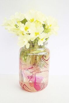 marbled vase, diy