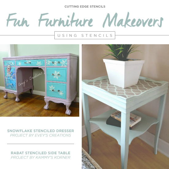 Fun Furniture Makeovers Using Stencils