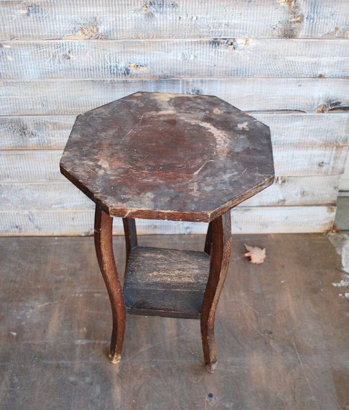 diy mid century octagon table, how to, painted furniture, repurposing upcycling