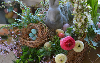 build a blooming easter basket easter centerpiece, crafts, easter decorations, flowers, gardening, seasonal holiday decor
