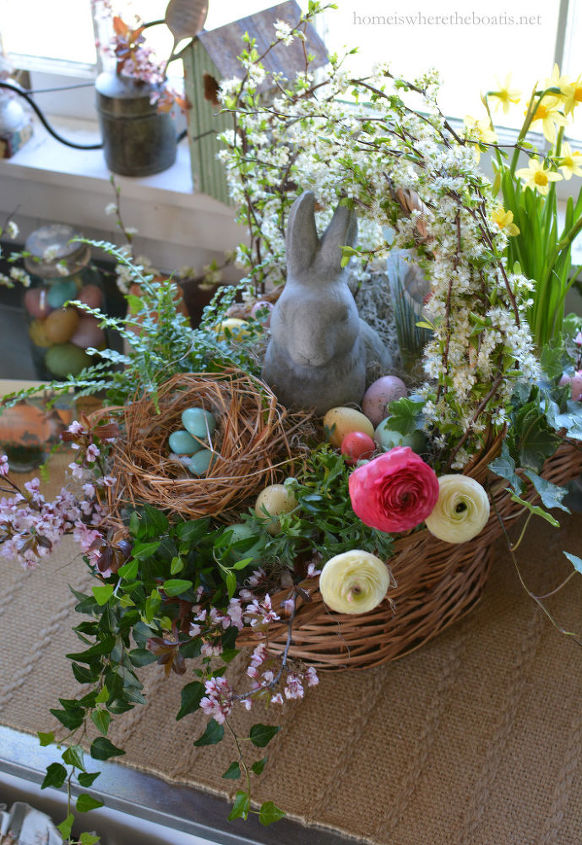 Build a blooming easter basket hometalk build a blooming easter basket easter centerpiece crafts easter decorations flowers gardening negle Choice Image