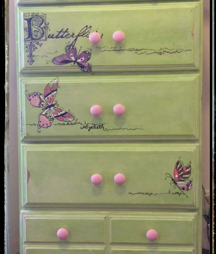 sweet lizzie rose two, bedroom ideas, chalk paint, decoupage, painted furniture, wall decor