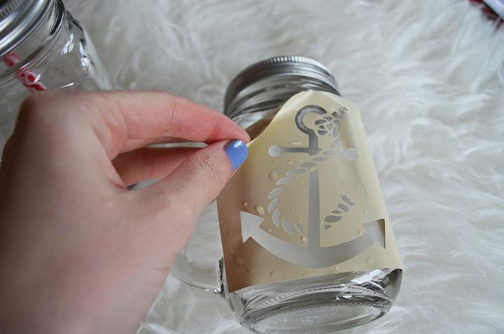 diy glass etched mason jar tumblers, crafts, how to, mason jars, repurposing upcycling