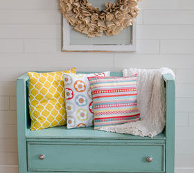 Great diy dresser turned bench outdoor furniture painted furniture repurposing upcycling