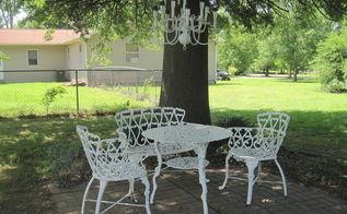 solar chandelier, lighting, outdoor living, painting, repurposing upcycling