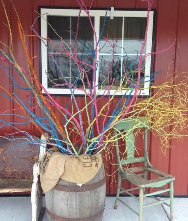 spring sticks, crafts, gardening, how to, porches, repurposing upcycling