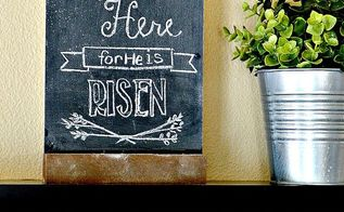 free easter printable he is not here, chalkboard paint, crafts, easter decorations, seasonal holiday decor