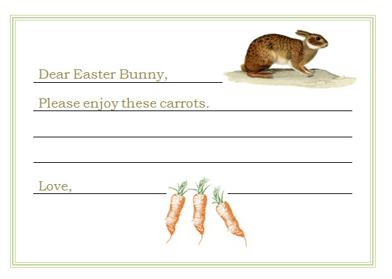 dear easter bunny printable note card hometalk