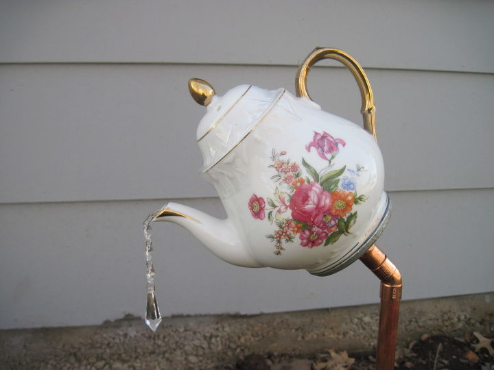 English Tea Pot Tea Cup And Saucer Garden Stakes Hometalk