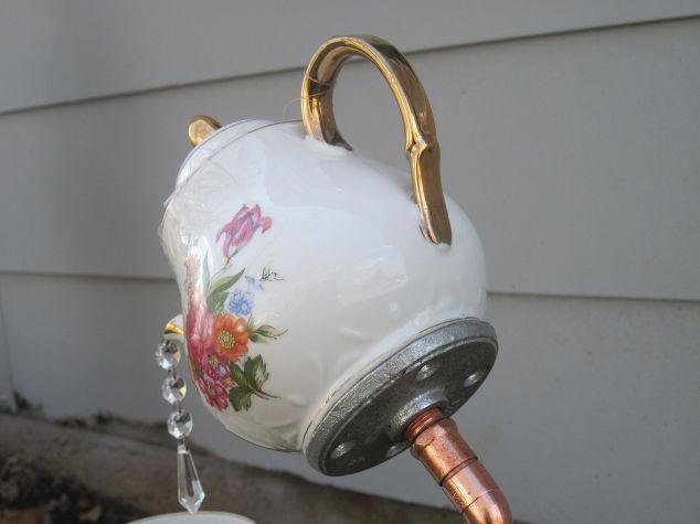 English Tea Pot Tea Cup And Saucer Garden Stakes Hometalk