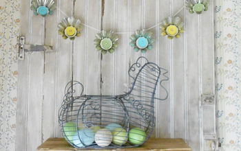 Spring Garland From Vintage Jello Mold Tins