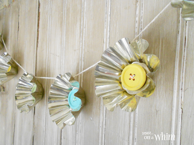 spring garland from vintage jello mold tins, crafts, easter decorations, how to, repurposing upcycling, seasonal holiday decor