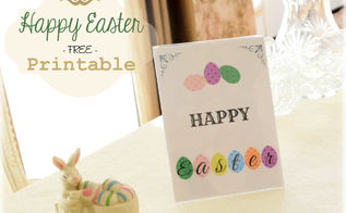 easter printable happy easter, crafts, easter decorations, how to, seasonal holiday decor