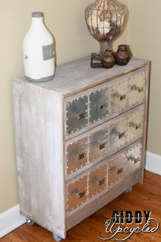 ikea rast hack industrial side table, how to, painted furniture