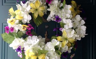 spring wreath florals, crafts, flowers, hydrangea, wreaths
