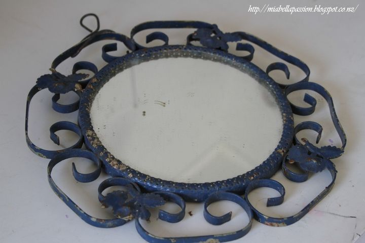 a little shabby mirror painted repurposed, crafts, how to, repurposing upcycling, shabby chic