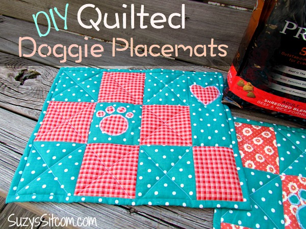 quilted doggie placements free pattern, crafts, how to, pets animals, reupholster