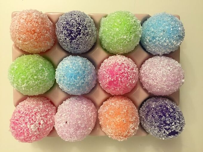 sparkling epsom salt easter eggs, crafts, decoupage, easter decorations, how to, seasonal holiday decor