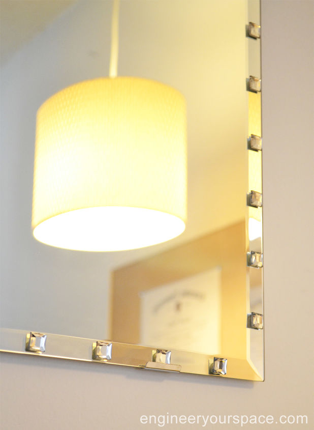 Easy Way to Add Sparkle to a Plain Beveled Edge Mirror: IKEA Hack ...