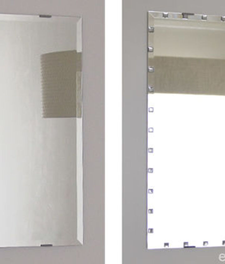 easy way to add sparkle to a plain beveled edge mirror ikea hack, crafts, how to, wall decor