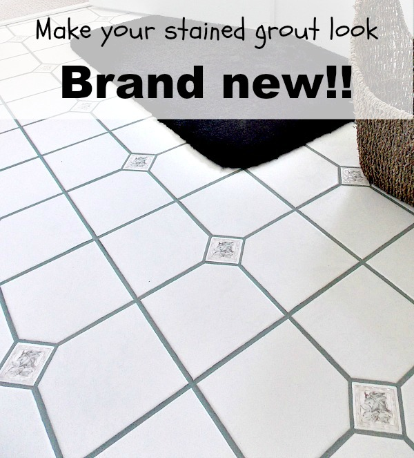 How To Clean Stained Grout Hometalk - Clean stained grout tile floor
