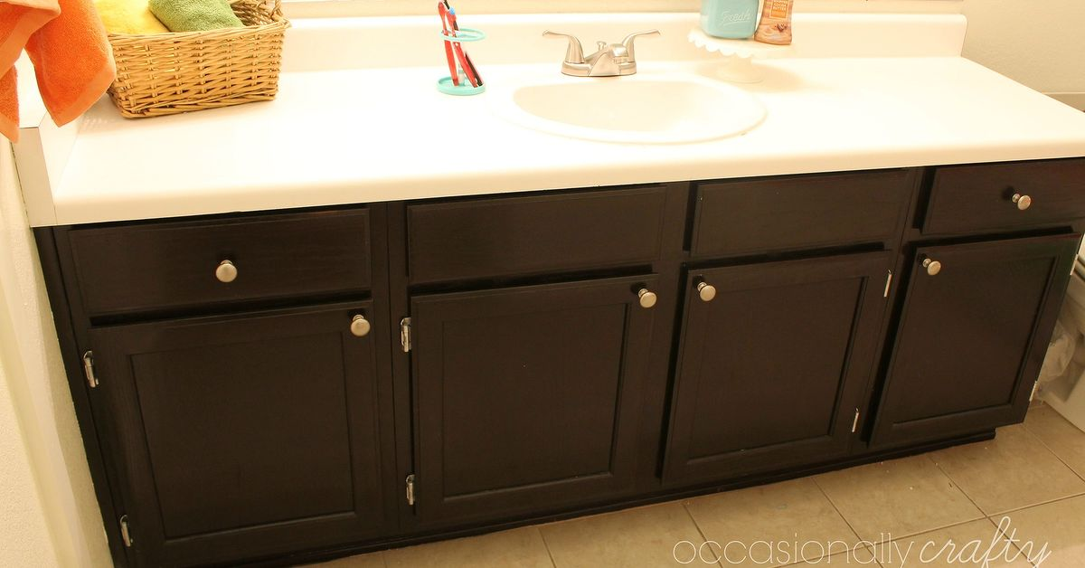staining bathroom cabinets update your cabinets with gel stain hometalk 26580
