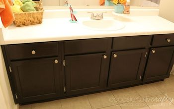 update your cabinets with gel stain, bathroom ideas, painting